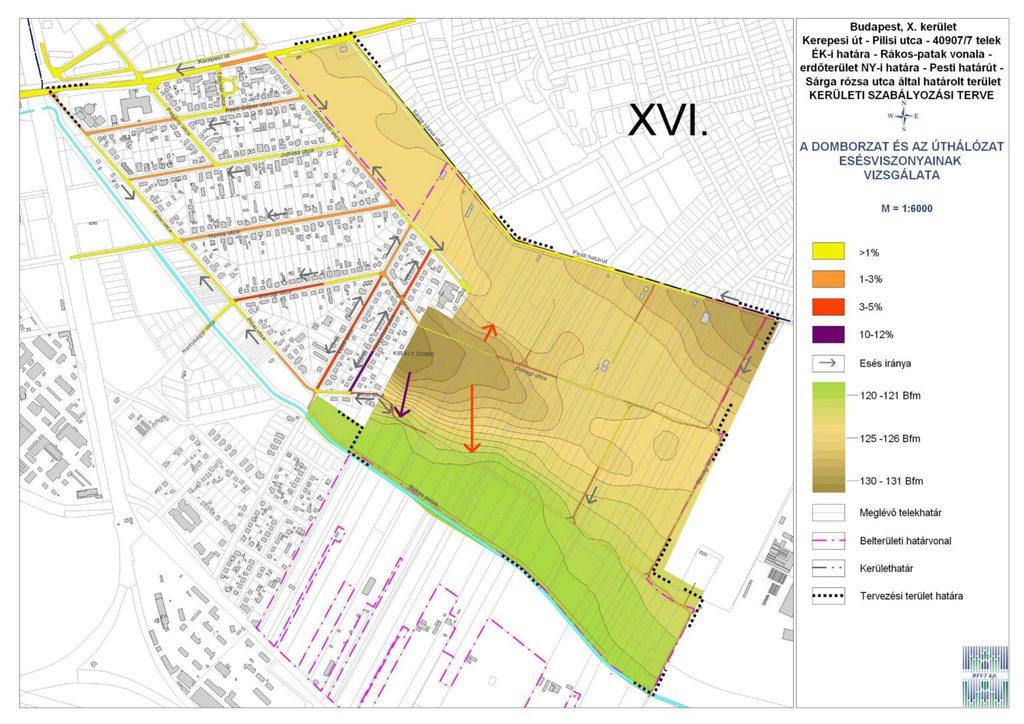 A kettévágott és félig már beépített Királydomb térképe 2012-ben.