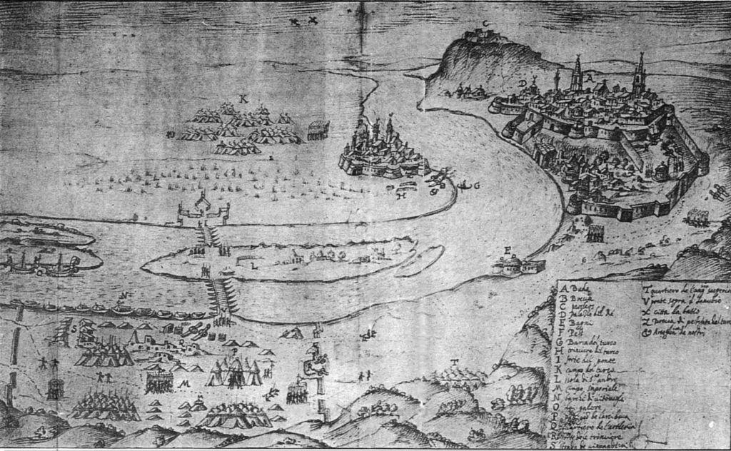 Pest és Buda Óbuda felől 1603-ban.
