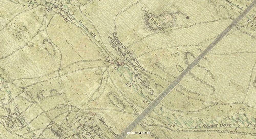 """A Királydomb """"Königsberg"""" néven 1775-ből."""